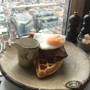I loved this duck and waffle breakfast!