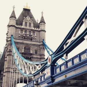 Magnificent Tower Bridge, often mistaken by tourists as the London Bridge.